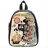 Emana Custom Neverland Peter Pan middle school Student Shoulder backpack School Bag travel backpack