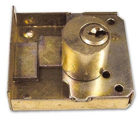 Cerradura de incastrare lomo latón Meroni Art 16/C Mis. 20mm cilindro de 20mm: Amazon.es: Bricolaje y herramientas