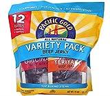 Pacific Gold Beef Jerky Original & Teriyaki, 12 Count