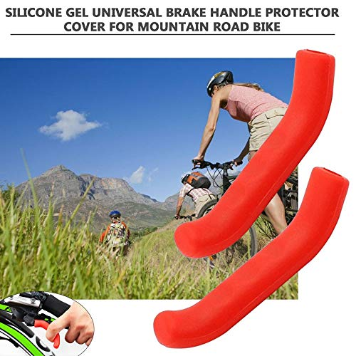 Rojo Gel de silicona Tipo universal Manija de freno Barra Agarre Palanca Protecci/ón de la funda Cubierta de la funda Protectora para Mountain Road Bike