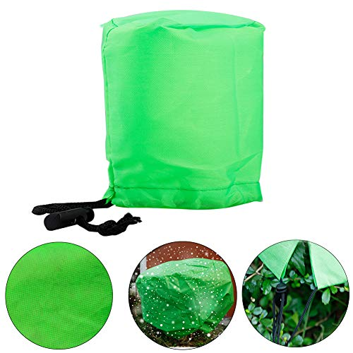 Plant Cover Freeze Protection Plant Protector Bag Frost Blanket for Plant Trees Shrubs-Reusable Shrub Covers Jacket with Zipper Drawstring,3D Round Frost Cover 2.06 oz/yd² 39.4×39.4in