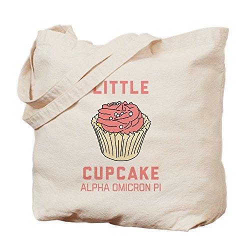 CafePress–Alpha Omicron Pi diseño de cupcakes–Gamuza de bolsa de lona bolsa, bolsa de la compra small caqui