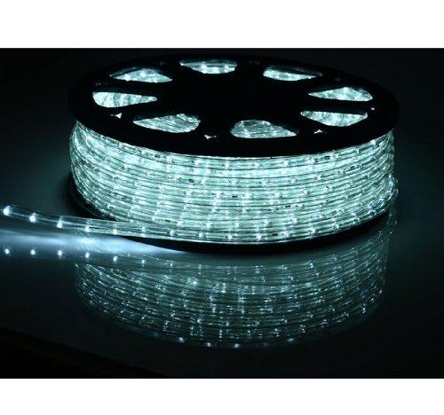 White 150 Ft 110v Home Led Rope Light Christmas Lighting W Adapter Decorative Cuttable
