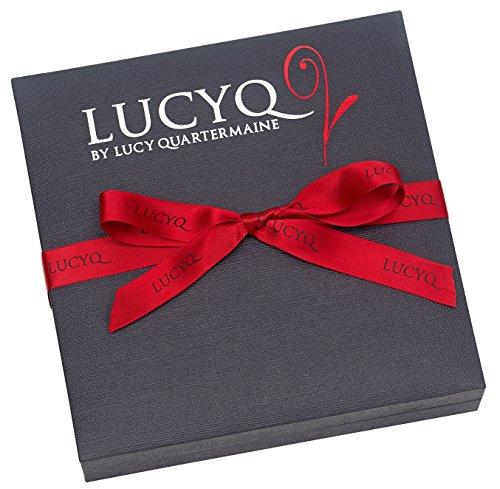 Lucy Quartermaine Argent Gouttes Wave Collier de 41-51,5cm