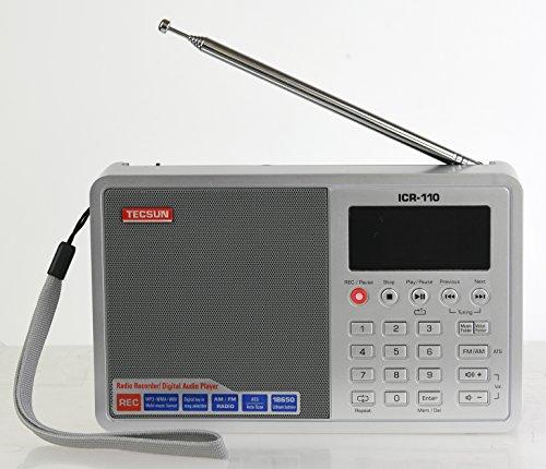 Tecsun ICR-110 4-in-1 Digital Portable AM/FM Radio + MP3 Pla