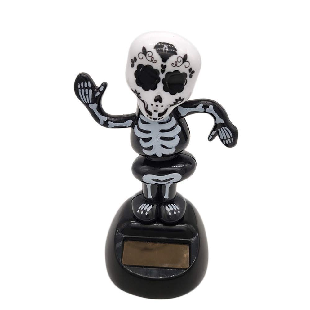 Yevison Car Accessories, Solar Powered Girl Swinging Animated Bobble Dancer Toy,1PC Car Decor Dancing Bobble,Non-Toxic, Environmental Protection Skull Durable and Practical