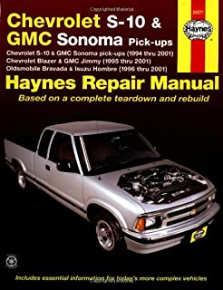 haynes chevrolet s 10 and gmc sonoma pick ups 94 01 manual rh amazon com haynes chevy s10 repair manual S10 Manual Transmission