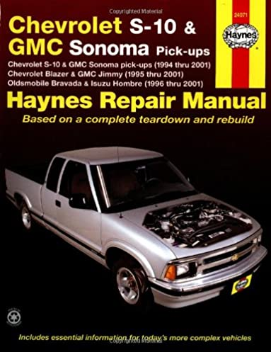 chevrolet s10 and gmc sonoma pick ups 1994 thru 2001 haynes rh amazon com 1995 S10 White 1995 Chevy S10 Truck