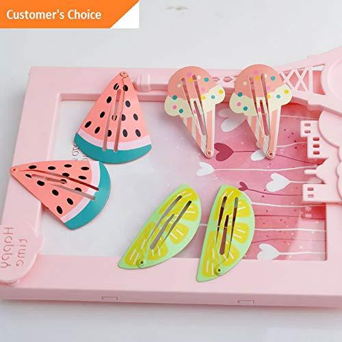 Sandover 3Pair/Set Child Girl Hairpin Baby Headdress Mermaid Watermelon Pineapple BB Clip | Model HRPN - 8425 | ()
