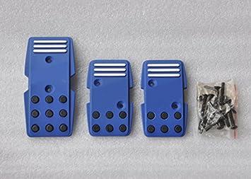 Licor coche nuevo con tornillos para MT Manual Transmisión vehículo Cool azul aleación de aluminio Combustible Gasolina Freno De Embrague Pedal De Frenado ...