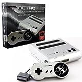 Retro-bit Retro Duo Twin Video Game System Console NES & Snes Silver/black