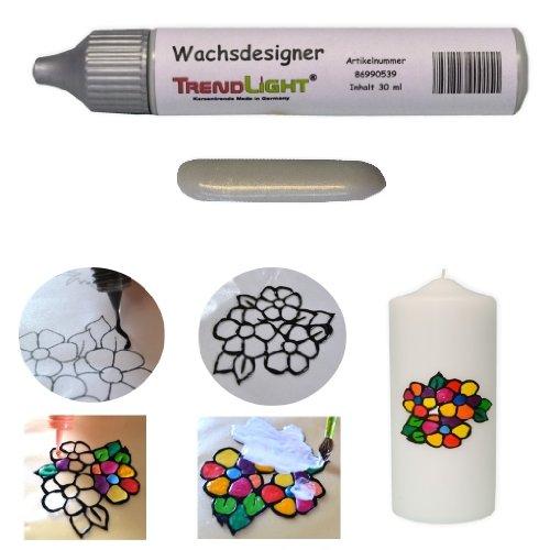 Wachsdesigner silber glänzend 30 ml inkl. ausführlicher Anleitung mit Bilder