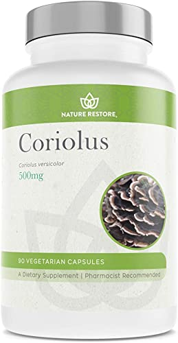 Coriolus Versicolor Mushroom Extract Supplement, 30 Percent Polysaccharides, Non GMO, Gluten Free, 90 Capsules, Original Turkey Tail Mushroom Supplement