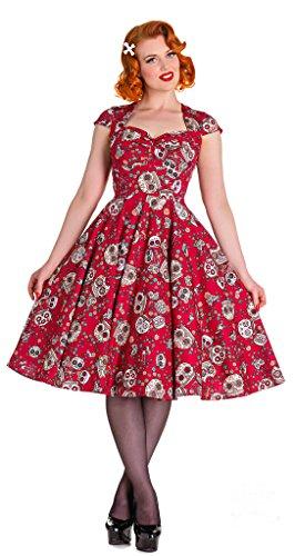 Hell Bunny Sasha Doll Sugar Skull Rockabilly Pinup Tattoo 50s Vintage Dress (2XL) (Pin Up Dolls Tattoos)