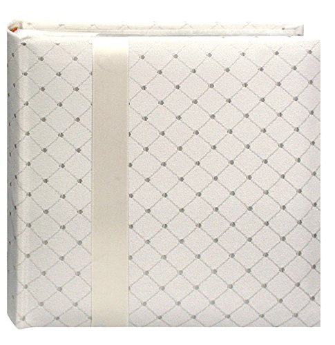 Pioneer DA200FDR Fabric Diamond Ribbon Wedding Photo Album, Holds 200 4x6' Photos, 2 Per Page Color May Vary
