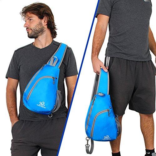 Bandolera WATERFLY Acampada para Plegable Hombre Bandolera Cruzada Exterior blau Bolso y Deporte Excursionismo Mochila Blau Mochila para Senderismo Bolsa Mujer vOrnqRWTvx
