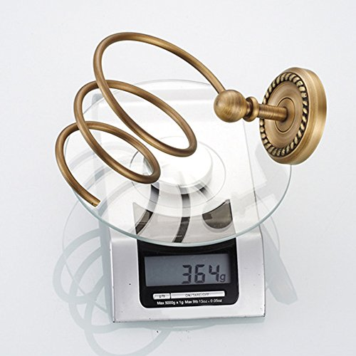 Vejaoo Antique Brass Spiral Practical Wall-mounted Bathroom Hair Dryer Holder by Vejaoo (Image #6)