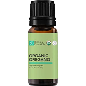 Bloomy Essentials Organic Oregano Essential Oil 10 mL (1/3 oz) - USDA Certified Organic - 100% Vegan, Pure, Therapeutic Grade, Undiluted, Great in a Household Cleaner