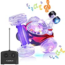 GBD Hobby RC Stunt Cars Toys for Kids Boys Girls Toddlers Baby Adults Prime Birthday Gifts Outdoor Summer Vacation Remote Control Vehicles Trucks Crawlers 360 Degree Spinning and Flips with Music