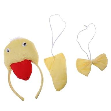 Amazon.com  MonkeyJack Unisex Kids Little Duck Headband Tail Bow Tie  Costume Accessory Fancy Dress  Clothing fb38f129d3c