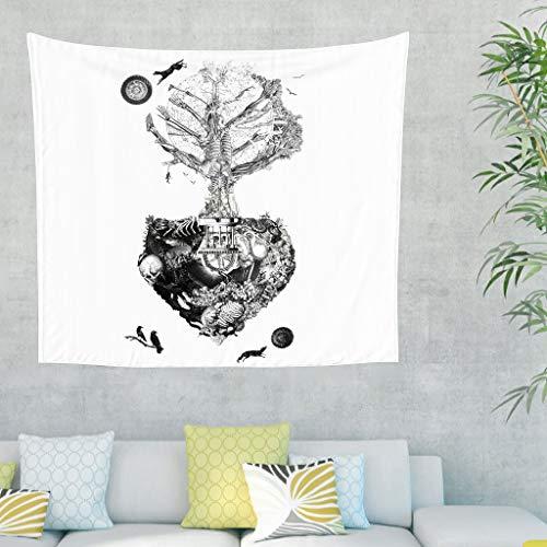 Tapiz de pared abstracto vikingo Yggdrasil, diseño de árbol celta ...
