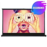 """ExquizOn 50"""" Projector Screen Pull-Out Style 16:9 Matte White Fabric Home Cinema Portable Table-Top Movie Screen"""