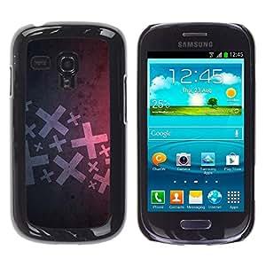 Exotic-Star ( Abstract X ) Fundas Cover Cubre Hard Case Cover para Samsung Galaxy S3 III MINI (NOT REGULAR!) / I8190 / I8190N