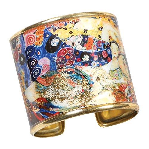 FLORIANA Women's Art Gold-Flecked Cuff Bracelet - Gustav Klimt/Vincent Van Gogh - The Virgin