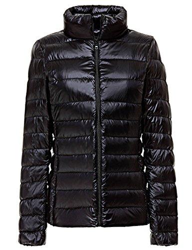 weight Down Black Jacket Short Women's Packable Puffer Quilted Coat Yeokou EXxwzgBqn0