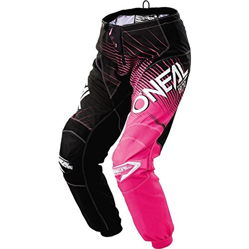 O'Neal Women's Element Racewear Pant (Black/Pink, Size 1/2)