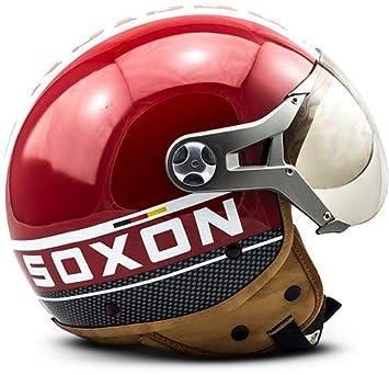 SOXON SP-325-PLUS White /· Mofa Helmet Urban Vespa Retro Chopper Piloto Biker Cruiser Bobber Moto motocicleta Urbano Scooter Casco Demi-Jet Vintage /· ECE certificado /· incluyendo parasol /· incluyendo bolsa de casco /· Blanc