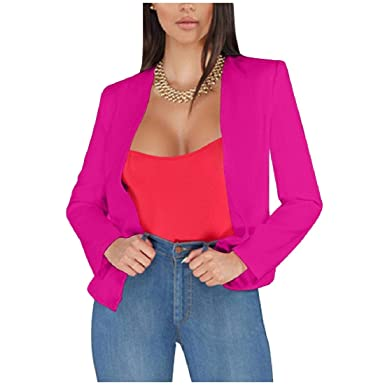 Andopa Thin Solid frente abierto casual traje chaqueta de ...