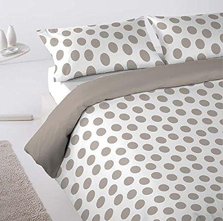 Más Relax Step Funda nordica cama de 135 más funda almohada, Poliester- Algodón, Beige, 135: Amazon.es: Hogar