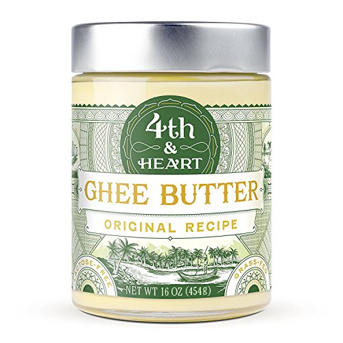 Original Grass-Fed Ghee by 4th & Heart, 16 Ounce, Pasture Raised, Non-GMO, Lactose Free, Certified Paleo