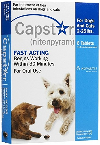 Capstar 6 tablets Green 57.0 mg for dogs over 25 lbs