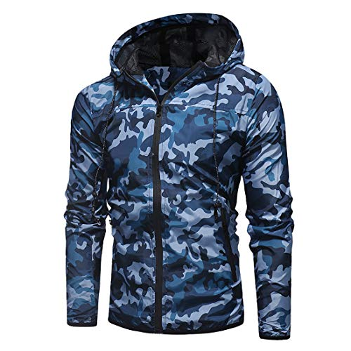Veste à Capuche Homme Manches Longues Full Zip Manteau Nouveau Camo Imprimer Poches Hoodie Homme Hoodie Classic Fashion… 2