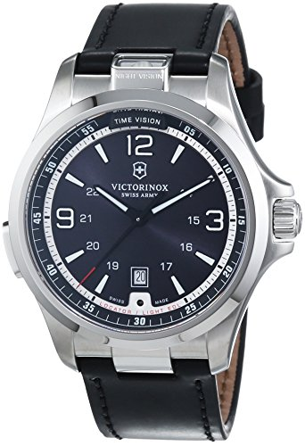 Victorinox Swiss Army Night Vision 241664 Mens Wristwatch With - Vision Army Night Swiss