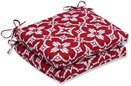 Pillow Perfect Outdoor/Indoor Aspidoras Apple Squared Corners Seat Cushion Set of 2