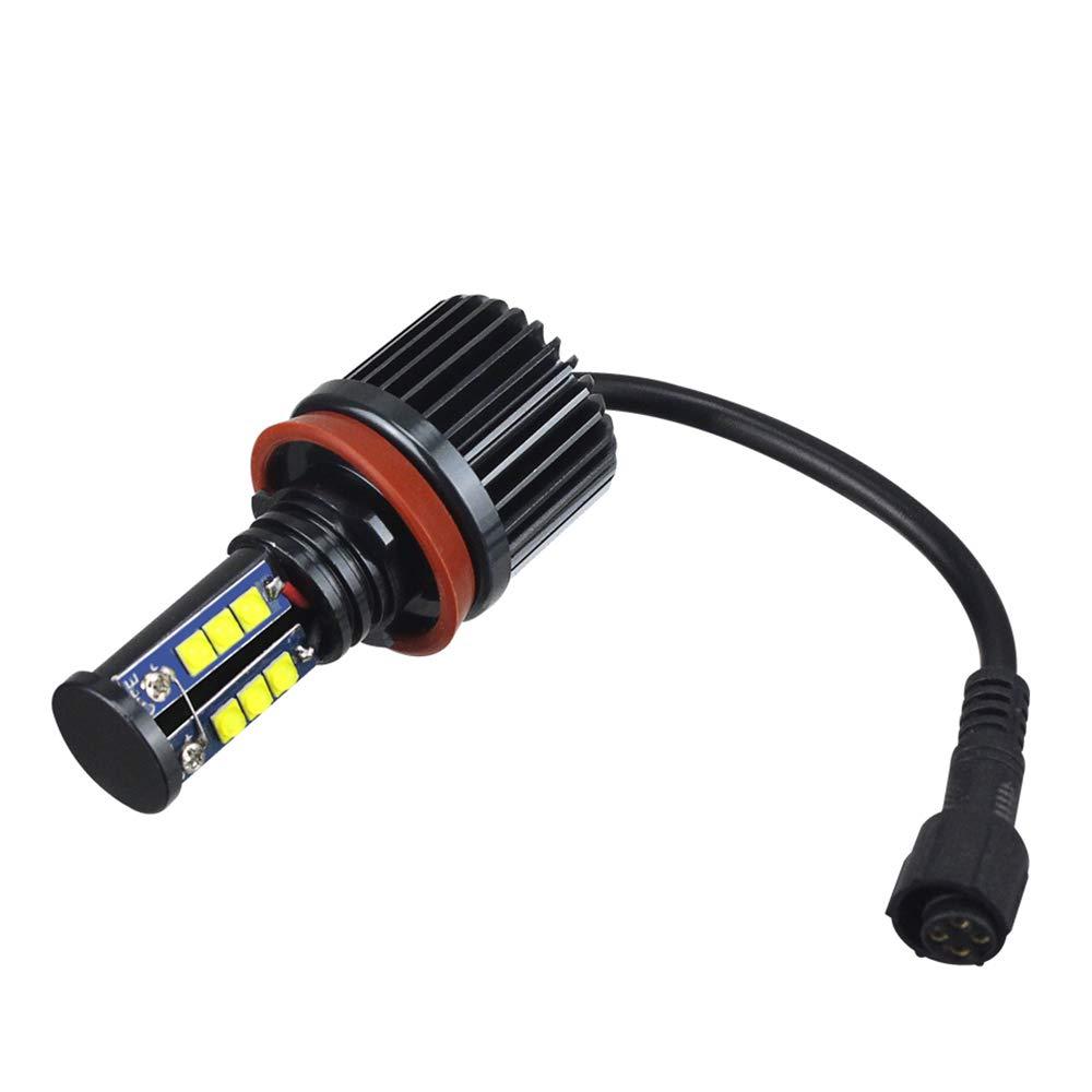 LED H8 120W Angel eyes Phare Aur/éoles pour auto Kit de conversion halog/ène pas derreur CanBus Feux de position 6000K Blanc x/énon E82//E87 E89 E91 E92 E93 E60 E61 E63 E64 E70 E71 2 Pi/èces