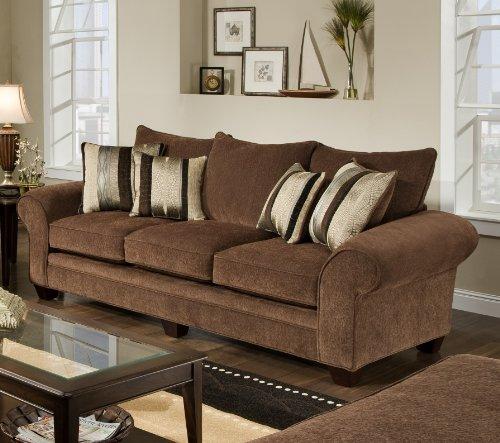 Chelsea Home Furniture Clearlake Sofa Masterpiece Chocolatekendu Onyx Pillows2 Best Sofas