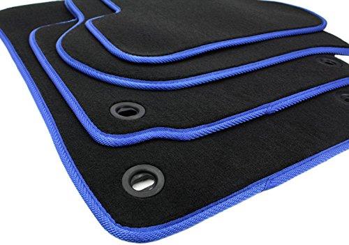 Fußmatten VW Touran Original Qualität DREHKNEBEL Velours 4teilig schwarz NEU