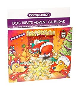 Companion Dog Treat Advent Calender - Fun advent calendar packed with 24 individual opening windows by William Hunter Equestrian