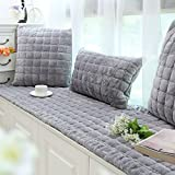 bay window cushions  Plush Window seat Cushions Indoor,Non-Slip Bay Window pad,Bay Window Cushion,Solid Color Thickened Balconies mat,Machine Washable-D 50x180cm(20x71inch)