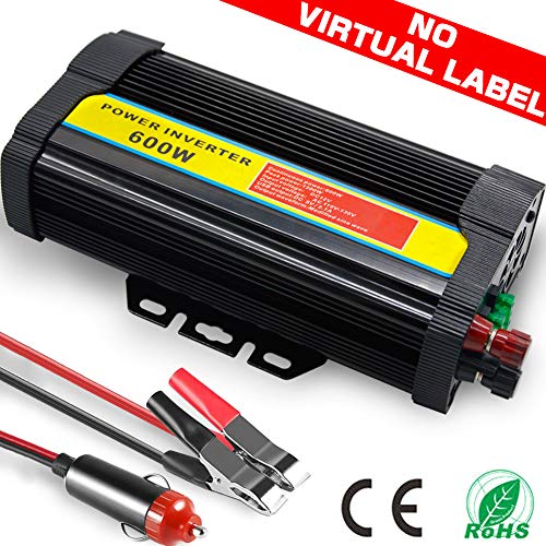 TINTON LIFE Peak 1200W Heavy Duty Modified Sine Wave 12V DC To 110V AC Power Inverter