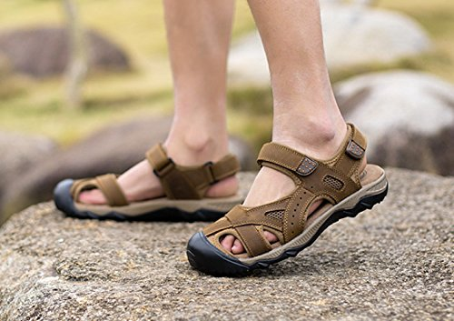 Shoes Uomo Outdoor Casual LEDLFIE Baotou Lightbrown Sandali Beach da awq0ZnOP