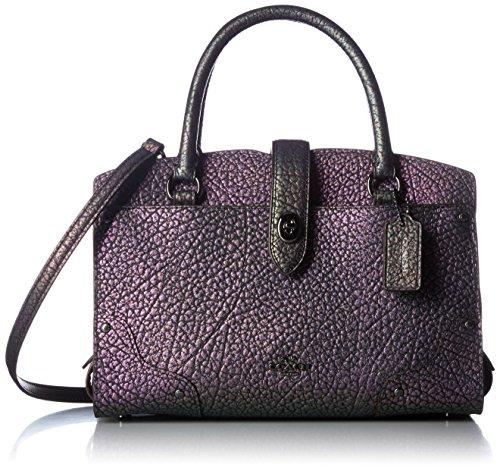 Mercer Dk/ Hologram Leather Crossbody satchel DKLH9 price tips cheap
