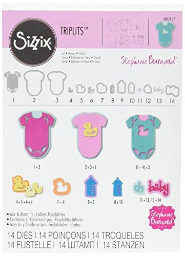 Sizzix Thin - Sizzix 660135 Triplits Die Set, Oh, Baby by Stephanie Barnard, 14-Pack