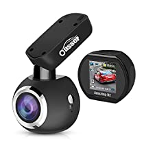 Dash Cam Oasser Full HD 1080P Dashboard Camera for Cars Car Dash Cam Car Camera Driving Recorder Mini 170° Angle with Sony IMX323 Sensor Super Night Vision G-Sensor Loop Recording U2