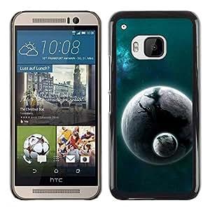 Be Good Phone Accessory // Dura Cáscara cubierta Protectora Caso Carcasa Funda de Protección para HTC One M9 // Space Planet Galaxy Stars 25
