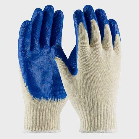 300 Pairs (30 bags) String Knit Blue Palm Latex Dipped Gloves, Made in Korea by 300 Pairs (30 bags) String Knit Blue Palm Latex Dipped Gloves, Made in Korea (Image #4)
